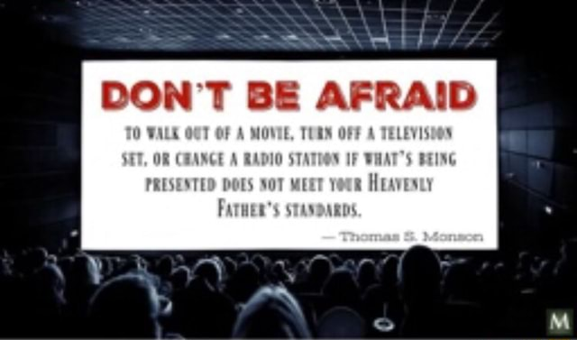 DON'T BE AFRAID TO VALE OCT OF A MOVIE, TURN OFF A TELEVISDON SET, OR CHANGE A RADIO STATOON IF WHAT'S BEING PRESENTED DOES SOT MEET YeuR HraveNty Fare STANDARDS memes