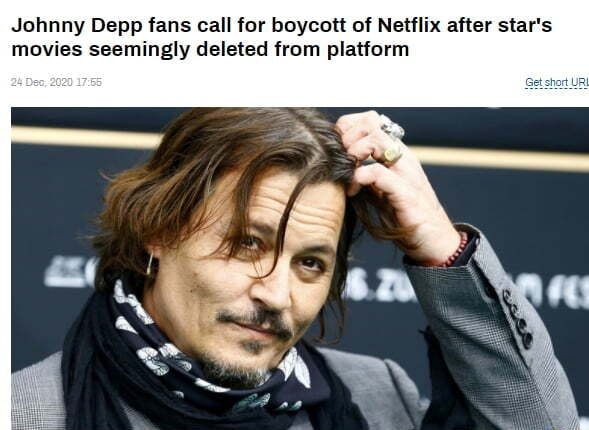 You know what to do. Johnny Depp fans call for boycott of Netflix after star's movies seemingly deleted from platform memes