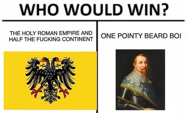 WHO WOULD WIN THE HOLY ROMAN EMPIRE AND HALF THE FUCKING CONTINENT I ONE POINTY BEARD BO memes