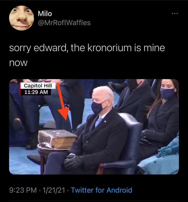 Milo MrRoflWaffles sorry edward, the kronorium is mine now AM PM Twitter for Android memes