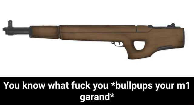 You know what fuck you *bullpups your garand*  You know what fuck you *bullpups your m1 garand* meme