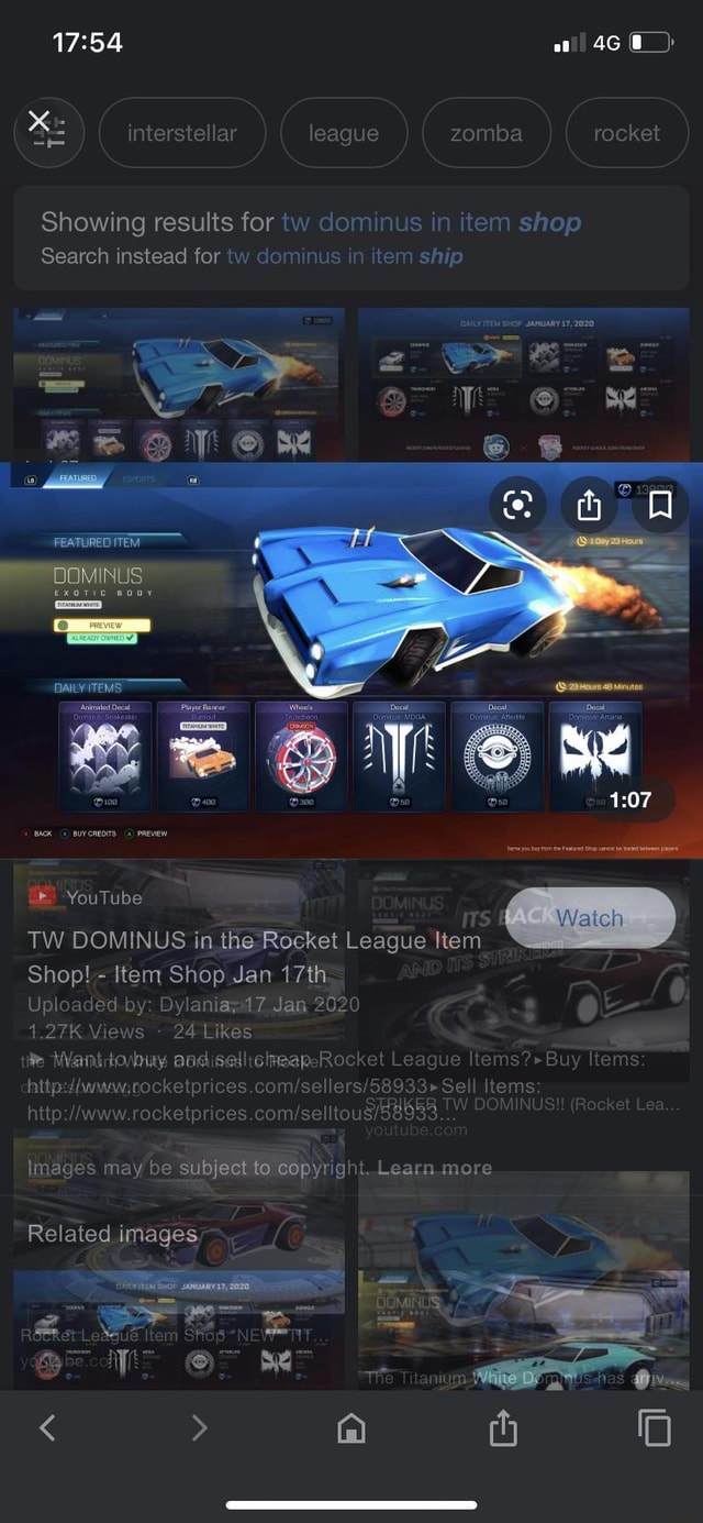 Eag mba ket Showing results for tw dominus in item shop Search instead for tw dominus in item ship PEATURED ITEM exotic DAILY ITEMS YouTube Wateh TW DOMINUS in the Rocket League Item Shop Item Shop Jan 17th kt agu ms Uploaded by Dylaniayvad 7 Jan 2020 24 Likes ck em ck us Images may be subject to Learn more Related images memes
