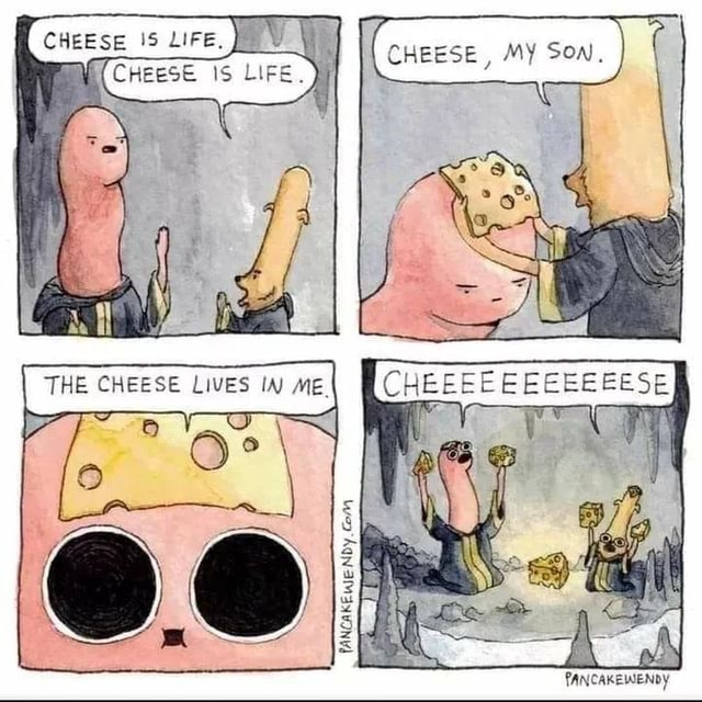CHEESE, MY CHEESE THE CHEESE LIVES W memes