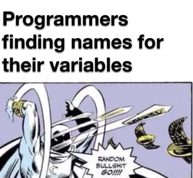 At least for some of us Programmers finding names for their variables meme