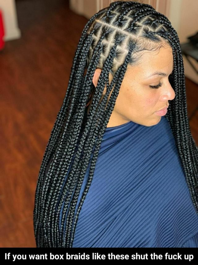 If you want box braids like these shut the fuck up If you want box braids like these shut the fuck up memes