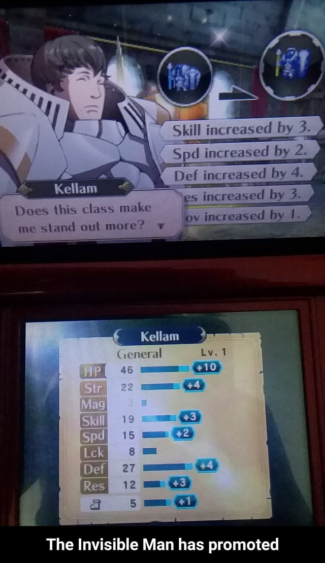 Does this class make me stand out more Kellam as The Invisible Man has promoted The Invisible Man has promoted memes