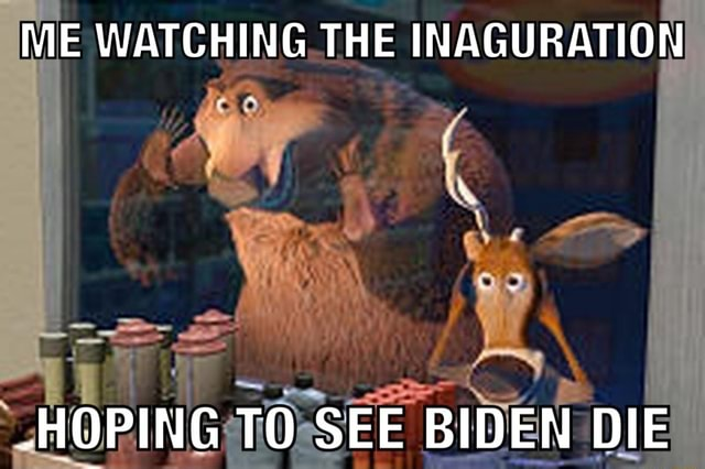 ME WATCHING THE INAGURATION HOPING TO SEE BIDEN DIE memes
