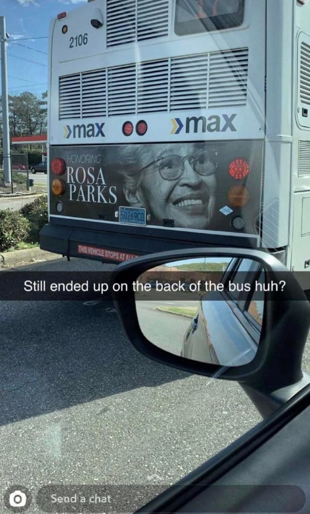 ROSA PARKS still ended up on the back of the bus huh memes