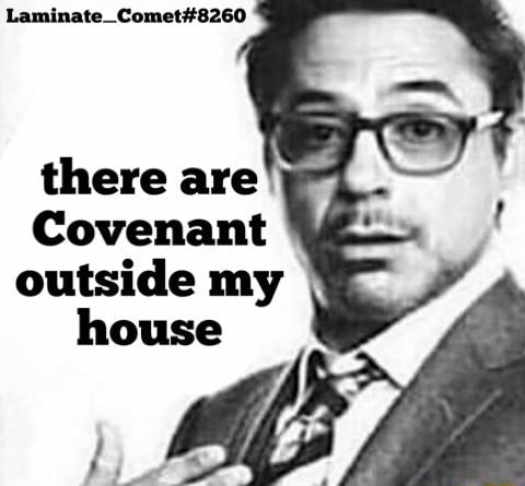 SS there are Covenant outside my house meme