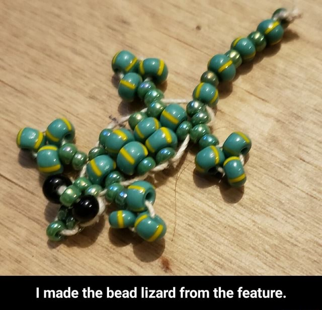 I made the bead lizard from the feature. I made the bead lizard from the feature meme