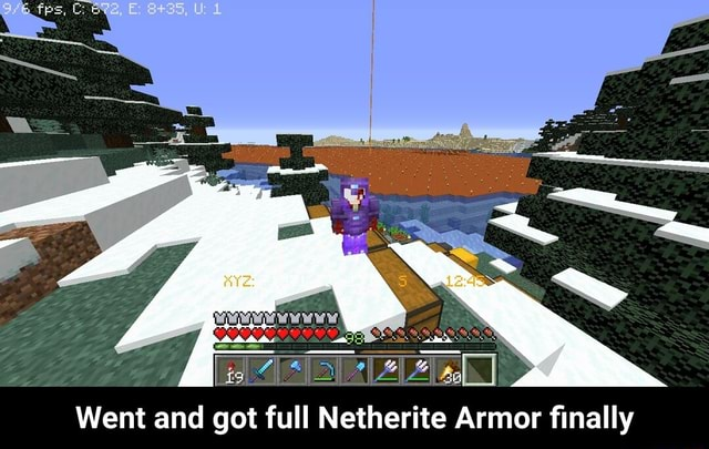 Went and got full Netherite Armor finally Went and got full Netherite Armor finally meme