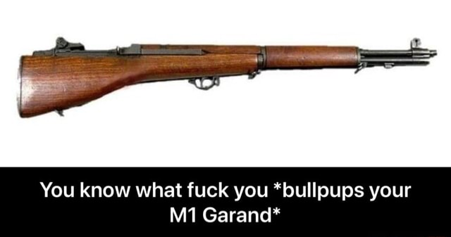 You know what fuck you *bullpups your Garand* You know what fuck you *bullpups your M1 Garand* memes