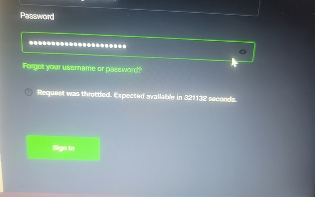 Password Request was throttled. Expected available in 321132 second , Sager Ir memes