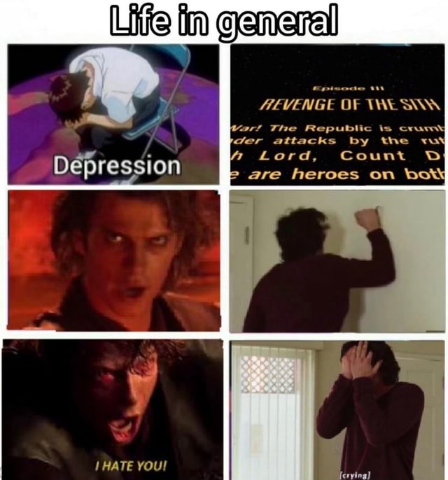 Life in General Depression OF ar The Republic is cram Ger attacks by the Lord, Count DD are heroes on bow HATE ferying} meme