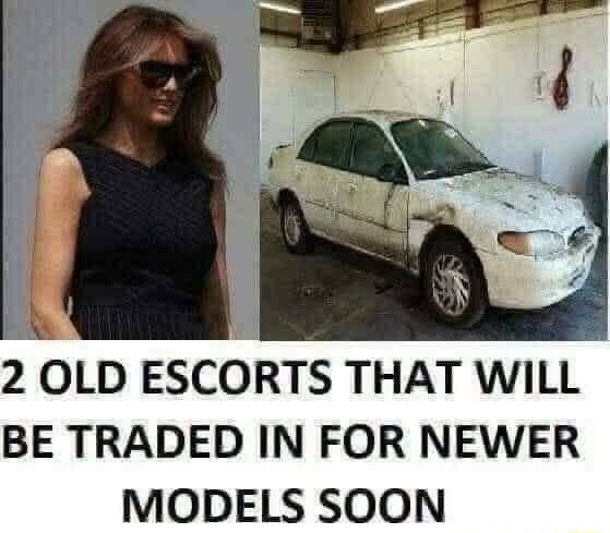 2 OLD ESCORTS THAT WILL BE TRADED IN FOR NEWER MODELS SOON memes