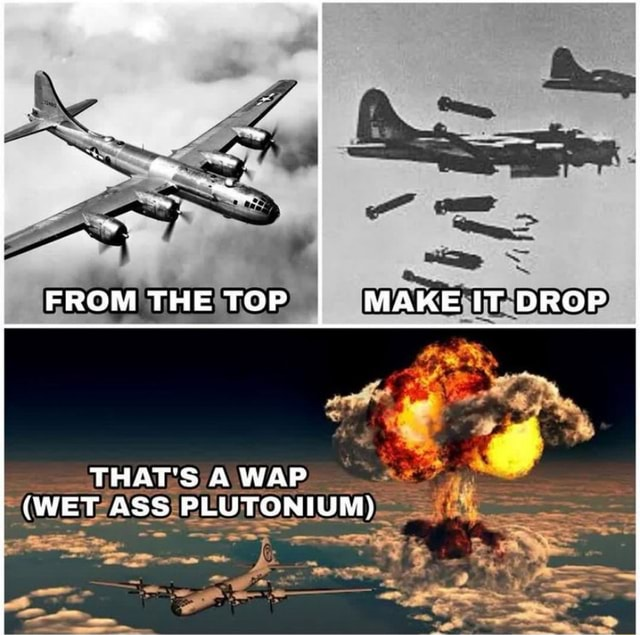 FROM THE TOP MAKE T DROP THAT'S A WAP WET ASS PLUTONIUM meme