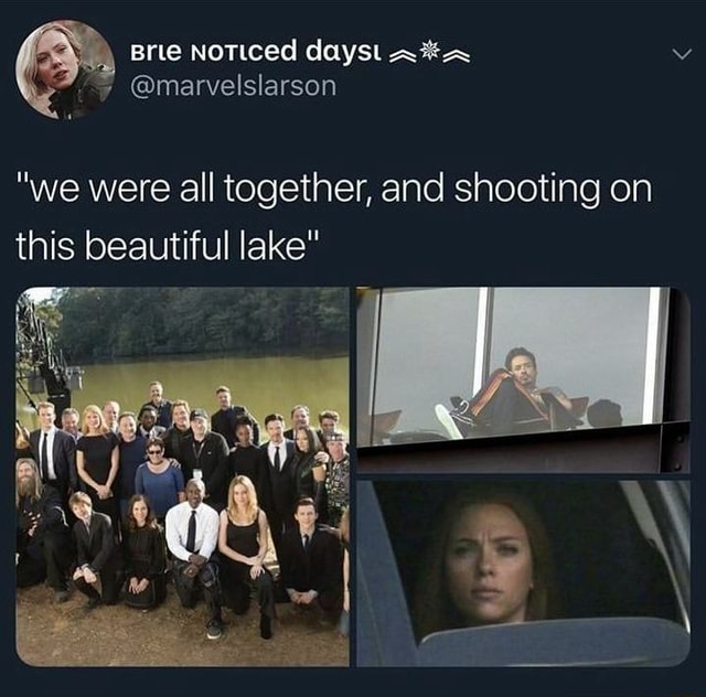 We were all together, and shooting on this beautiful lake meme