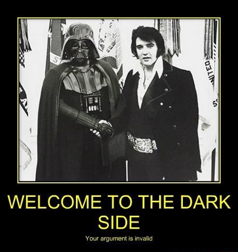 WELCOME TO THE DARK SIDE our argue invalid memes