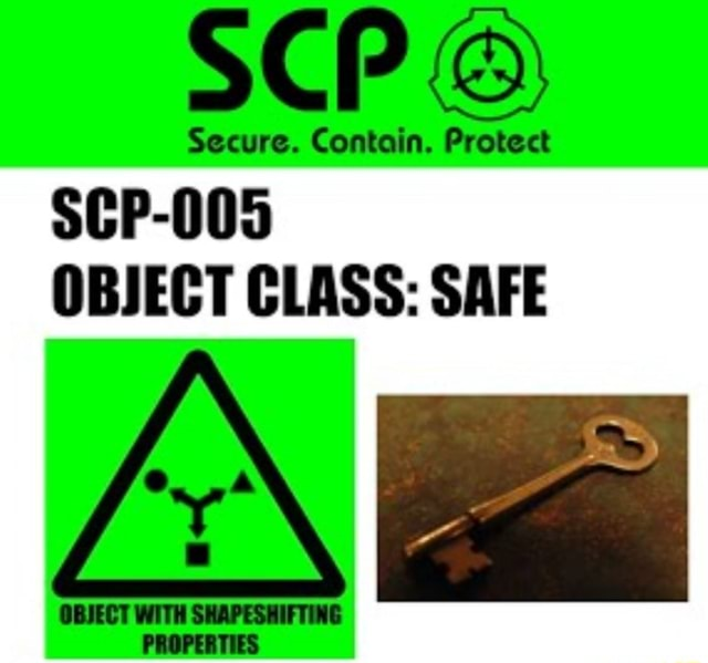 Cont Protect SCP 005 OBJECT CLASS SAFE memes
