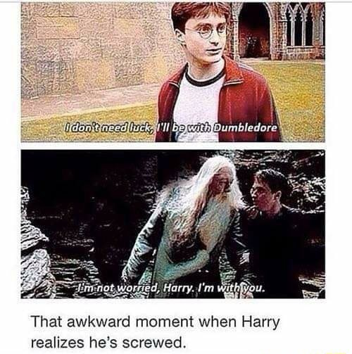 That awkward moment when Harry realizes he's screwed memes