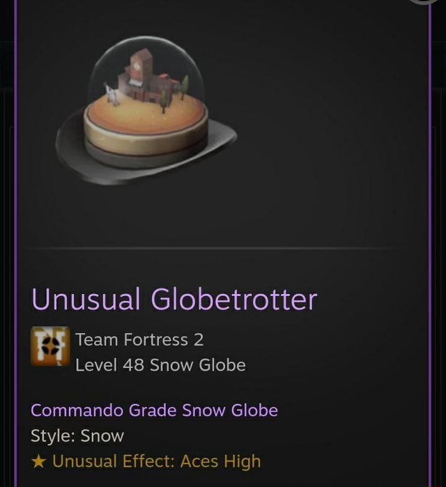 Unusual Globetrotter Team Fortress 2 Level 48 Snow Globe Commando Grade Snow Globe Style Snow Unusual Effect Aces High meme