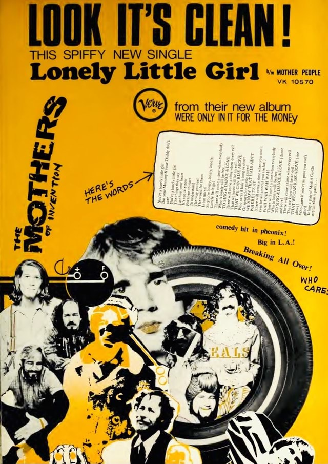 LOOK GLEAN THIS SPIFFY NEW SINGLE Lonely Little Girl YR from their new album WERE ONLY INIT FOR THE MONEy comedy hit fig Big in L.A. Trey THE oF memes