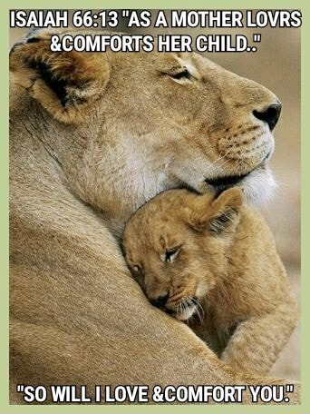 ISAIAH AS A MOTHER LOVRS and COMFORTS HER CHILD SO WILL I LOVE and COMFORT YOU. memes