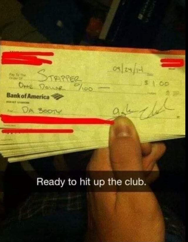Bank of America te OR Boony Ready to hit up the club meme