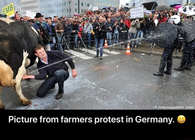 Picture from farmers protest in Germany.  Picture from farmers protest in Germany.  meme