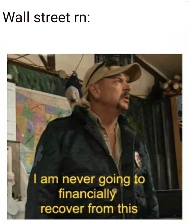 Wall street rn am never going to financially recover from this meme