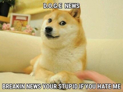 D.0.G.E NEWS BREAKIN NEWS YOUR STUPID IF YOU HATE ME memes