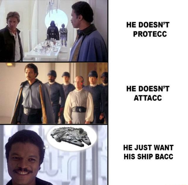 HE DOESN'T PROTECC HE DOESN'T ATTACC HE JUST WANT HIS SHIP BACC memes