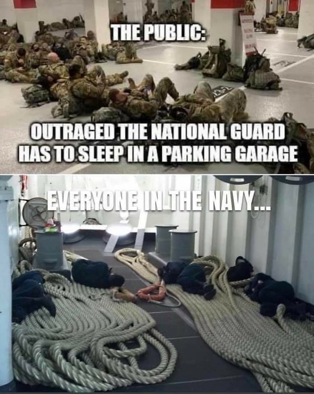 THE THE SLEEP IN A PARKING GARAGE HAS TO meme