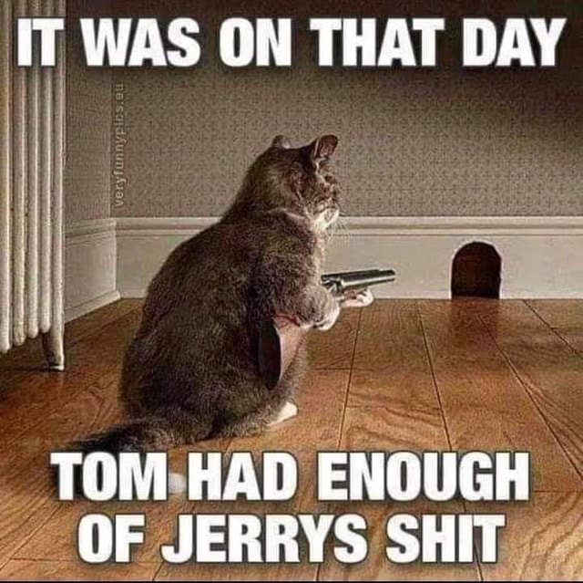 IT WAS ON THAT DAY TOM ENOUGH OF JERRYS SHIT memes