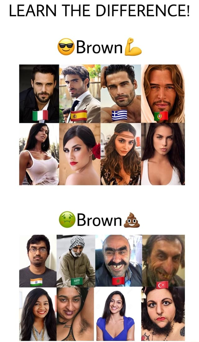 LEARN THE DIFFERENCE Brown BrownA meme