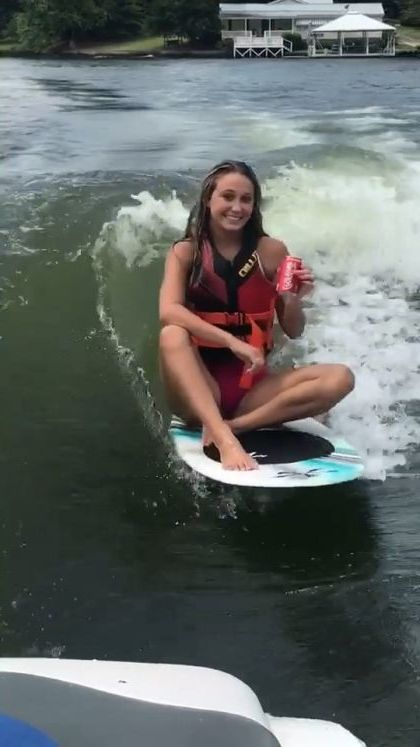 Surfing and drinking soft drinks - Funny Videos - funnylax.com - Nature & Travel, girls, surfing, sea travel