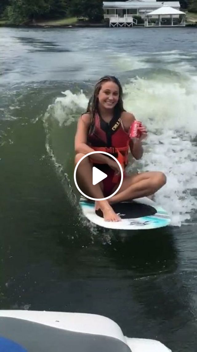 Surfing And Drinking Soft Drinks - Video & GIFs | Nature & Travel, girls, surfing, sea travel