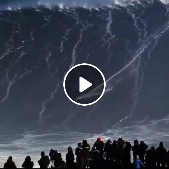 Tourists Are Watching A Man Surfing On The High Waves - Video & GIFs | Nature & Travel, tourists, men and women fashion, surfing, sports equipment, high waves