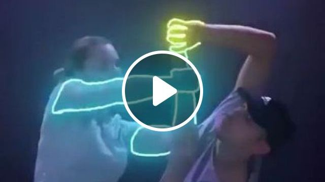 Artists Dance With Electronic Devices And Led Lights - Video & GIFs | Fashion & Beauty, dance artists, electronic devices, led lights