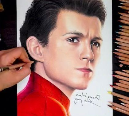 Drawing Spider Man Far From Home - Funny Videos - funnylax.com - art & design,drawing tools,crayons,spiderman,superhero