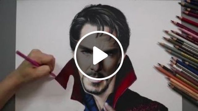 Avengers,docterstrange Drawing - Video & GIFs | art & design, painting, painting tools
