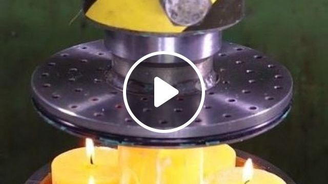 How To Turn Candles To Worms With Hydraulic Press - Video & GIFs   science & technology, hydraulic machines, automatic technology