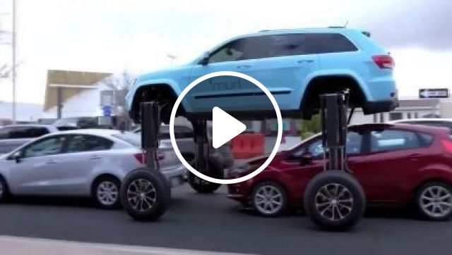 Good Way To Get Through Traffic - Video & GIFs   auto & technique, luxury cars, auto technology