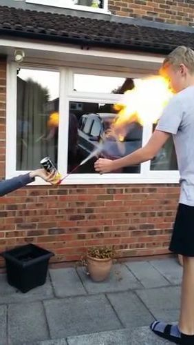 Don't play with fire, kids - Video & GIFs   fashion & beauty,sports shoes,flats,luxury cars,men's fashion