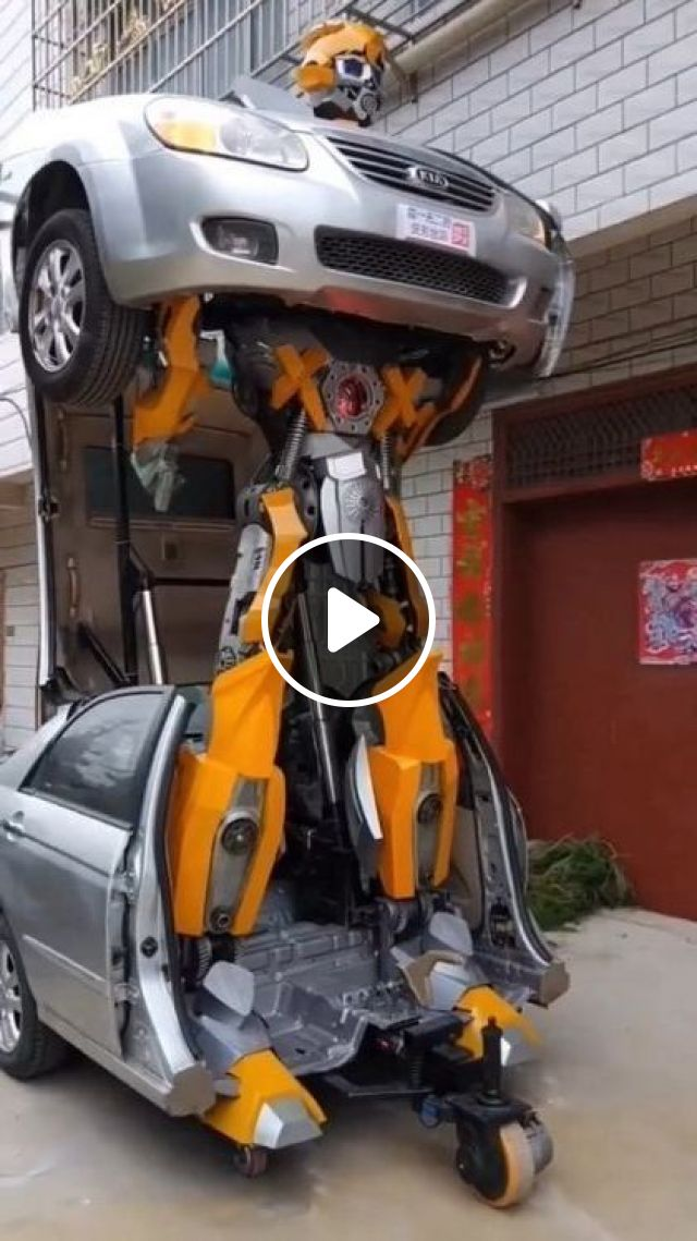 Car Transforms Into A Robot - Video & GIFs | science & technology, vehicle, transform, robot, luxury vehicles