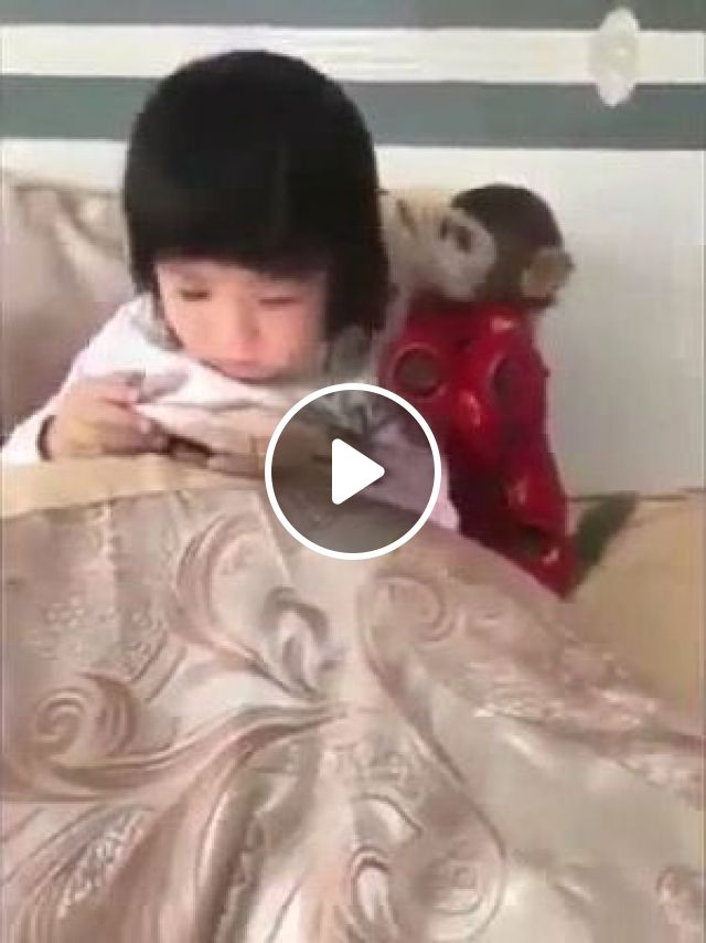 Monkey And Baby - Video & GIFs | animals & pets, monkeys, babies, baby fashion clothes, smart phones