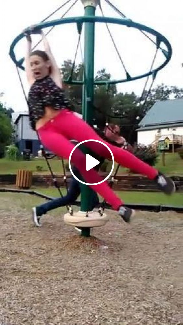 Man And Girl Playing In Park - Video & GIFs | nature & travel, man, girl, male and female fashion, playing, park
