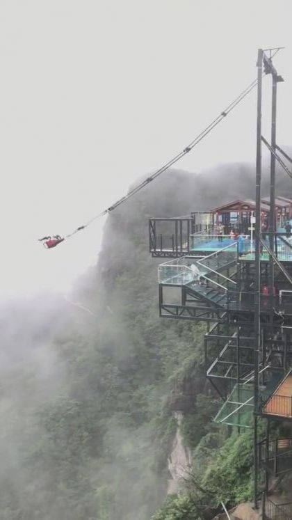 China travelThis giant rope swing - Video & GIFs | nature & travel,mountain travel,china travel