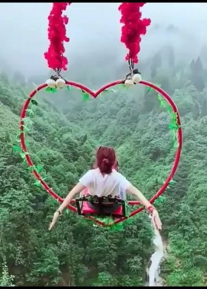 China travel,swing on the mountain
