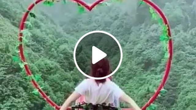 China Travel,swing On The Mountain - Video & GIFs | nature & travel, china travel, mountain travel